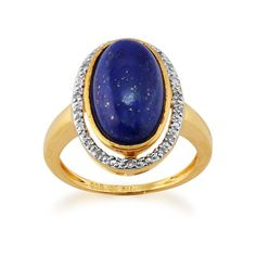 A vibrant blue semi-precious gemstone beauty to behold, this statement ring is all the pop of colour you'll ever need. Gold Plated Sterling Silver 3.65ct Lapis Lazuli & 5.6pt Diamond Cluster Ring, £59. Available at: http://www.gemondo.com/p-21719-gold-plated-sterling-silver-365ct-lapis-lazuli-56pt-diamond-cluster-ring.aspx