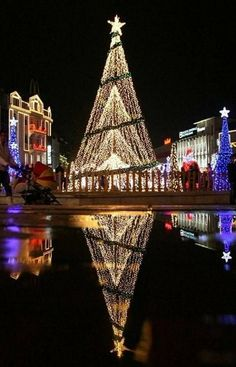 Christmas lights in Varna, Bulgarian
