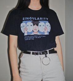 Singularity T-Shirt from cerulean - Singularity T-Shirt · cerulean · Online Store Powered by Storenvy Source by reeeeneeeeeeeeee - Kpop Outfits, Retro Outfits, Trendy Outfits, Vintage Outfits, Cute Outfits, Fashion Outfits, Fashion Blouses, Fashion Vintage, Grunge Outfits