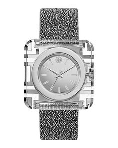 Izzie 36mm Stainless Steel Watch, Silvertone by Tory Burch Watches at Neiman Marcus.