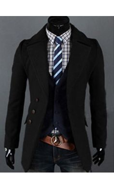 Modern Mens turndown coat