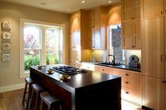 15 Glamorous Asian Kitchen Design Ideas (With Pictures) Kitchen Cabinet Styles, New Kitchen Cabinets, Pine Cabinets, Kitchen Reno, Cupboards, Kitchen Island, Contemporary Kitchen Design, Interior Design Kitchen, Kitchen Designs