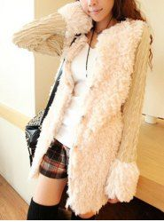 $10.18 Solid Color Long Sleeves Fashionable Style Warmly Coat For Women