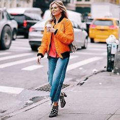 Got my coffee so obviously running for food 🙋🏼🙊 #NYFW | pc: @shootingthestyle 💥 #streetstyle