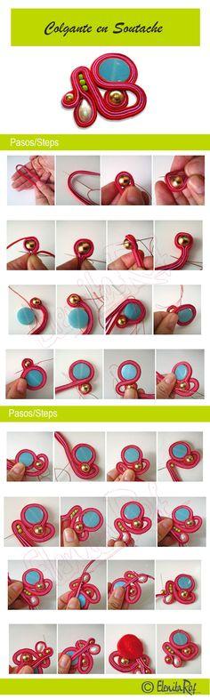 colgante-en-soutache-rojo-tutorial http://www.elenitarof.com/category/tu-to-ria-les-de-sou-ta-che/