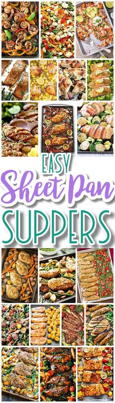 The BEST Sheet Pan Suppers Recipes – Easy and Quick Baked Family Lunch and Simple Dinner Meal Ideas using only ONE Baking Sheet PAN! The BEST Sheet Pan Suppers Recipes – Easy and Quick Baked Family Lunch and Simple Dinner Meal Ideas using Supper Recipes, Easy Dinner Recipes, Easy Meals, Simple Meals For Dinner, Quick Family Dinners, Meal Ideas For Dinner, Quick Easy Dinner, Easy Weeknight Meals, Freezer Meals