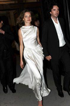 gorgeous white silk dress