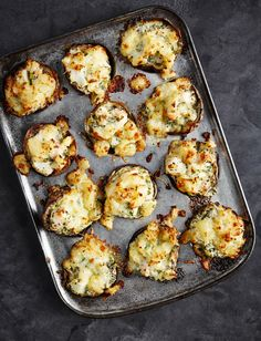 Feast your eyes on John Whaite& fish pie potato skins recipe. This comforting dish has all the essential properties of a fish pie but the mixture is kept in the potato skins Potato Recipes, Fish Recipes, Seafood Recipes, Chicken Recipes, Cooking Recipes, Healthy Recipes, Delicious Recipes, Healthy Food, Recipies