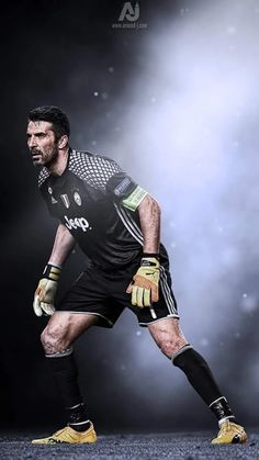 Foto Fifa Football, World Football, Buffon Goalkeeper, Juventus Wallpapers, Street Football, Soccer Art, Juventus Fc, Football Wallpaper, Sports Figures