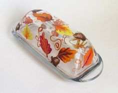 Fall Leaves Butter Dish