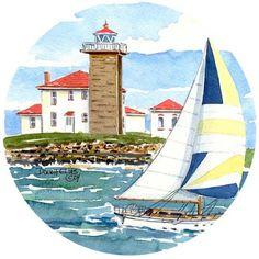 Watch Hill Lighthouse, Rhode Island