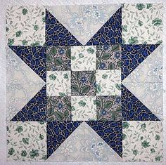 Evening Star Quilt Block