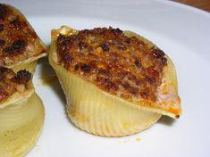 Conchiglioni farcis (grosses pâtes coquillage)