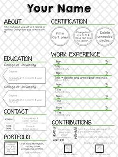 elementary chalkboard resume teaching