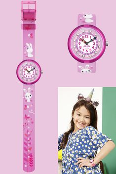 SO CUTE (ZFBNP143) is an adorable rabbit wrist watch that introduces white fluffy friends to make learning the time easy. This Swiss-made watch for kids with a touch of hot pink would be a wonderful gift for kids to grow up with, featuring glistening gemstones around its dial as well as a plastic case and printed textile strap. Swiss Made Watches, Textile Prints, Plastic Case, Gifts For Kids, Swatch, Hot Pink, Learning, Cute, Rabbit