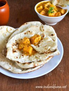 Naan Recipe without Yeast | Naan on Stove Top Recipe ~ Indian Khana