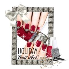 """""""Holiday Nail Art"""" by clotheshawg on Polyvore"""