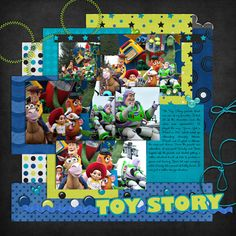 Disney Toy Story scrapbook Layout