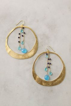 gold & gem earrings