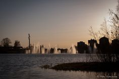 Fountains by Toivoniemi, Oulu, Finland Finland, New York Skyline, My Photos, Celestial, Explore, Sunset, Travel, Outdoor, Sunsets