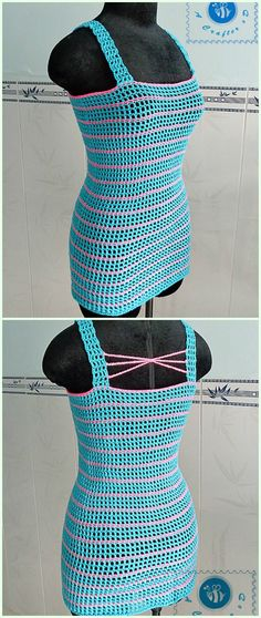 Crochet Pink Striped Tank Top Free Pattern-Crochet Summer Top Free Patterns