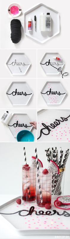 "How to make your own ""cheers"" tray for a party"