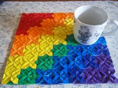 Origami Maniacs: Origami Paper Quilt paper craft ideas how to show simple texture and sculpture methods in art group