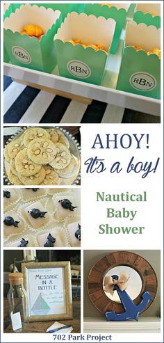 ahoy, nautical, baby shower