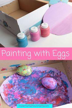 Easter Activities for Kids - Easter Activities For Toddlers, Preschool Art Activities, Easter Crafts For Kids, Infant Activities, Baby Crafts, Toddler Art, Toddler Crafts, Easter Paintings, Free