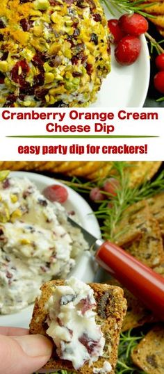 Full of tangy cream cheese accented with tart orange, sweet cranberries this festive Cranberry Orange Cream Cheese Dip for Crackers is perfect for all of your holiday parties, from happy hour to watching the big games! #appetizers #dip #holiday via @westviamidwest