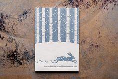 Schneespuren letterpress-postcard gedruckt auf 600 gramm Gmund Cotton linen cream Letterpress, Gramm, Illustration, Paper Mill, Weather Report, Snow, Nice Asses, Letterpress Printing, Letterpresses