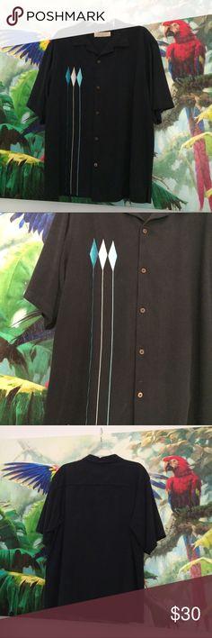 Vintage style bowling shirt Island Republic vintage style bowling shirt. Front graphic is embroidered. Island Republic Shirts