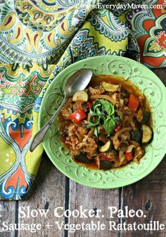 Slow Cooker Sausage and Vegetable Ratatouille