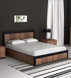10 Latest Wooden Bed Designs With Pictures In 2020 Are you searching for the best wooden bed designs in the market ? Then here are our 10 simple and best wooden bed designs in india. Latest Wooden Bed Designs, Simple Bed Designs, Bed Designs With Storage, Double Bed Designs, Designs Of Beds, Bed Designs In Wood, Wooden Bed With Storage, Elegant Designs, Bedroom Cupboard Designs