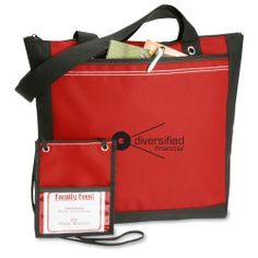 It's 2-for-1 with this stylish bag and hip tradeshow pouch!