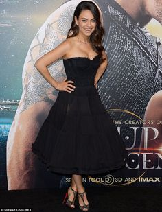 Speculation: Mila - pictured at the LA premiere of Jupiter Ascending last month - was forc...