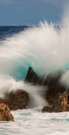 Crash | waves crashing into the rocks in front of the Lido at Porto Moniz, Madeira Island