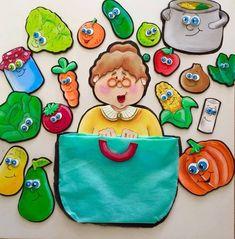 A cesta da Dona Maricota Food Clipart, Felt Food, Kids Education, Preschool Activities, Diy And Crafts, Clip Art, Valentines, Photo And Video, Fruit