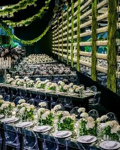 "LEBANESE WEDDINGS on Instagram: ""When all white blooming centerpieces and lush greenery come together perfectly 🍃 Swipe to enter this vertical garden celebration that left…"""