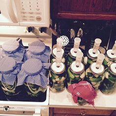 Here's an account that we get advice from and we plan on stealing her pickle recipe very soon!  Hope you guys enjoy this post from @fabulousfermentista An aerial shot of my 8 gallons and 1 quart of pickles. Phew!  that's a lot of pickles and I'm not certain where they'll all go when finished. Who knows maybe I'll sell some...they are dang delicious! I'll post my recipe and method tomorrow. Or really later today as it's 2 frikin' 30 in the morning! still worth it. Can't sit on cucumbers too…
