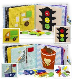 Quiet Book Busy Book Eco friendly educational soft by MiniMoms
