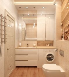 Replacing Bathroom Fan with Fan Light Combo . Replacing Bathroom Fan with Fan Light Combo . Small Space Bathroom, Bathroom Design Small, Laundry In Bathroom, Bathroom Layout, Bathroom Interior Design, Laundry Rooms, Bathroom Ideas, Beige Bathroom, Small Spaces