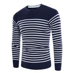 GAGA Men Autumn Blouse Long Sleeve Mock Neck Solid Pullover Knit Sweater