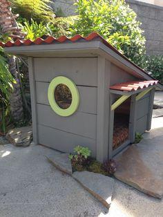 Designer Dog Houses, Pet house, Cats, Turtles, Dogs, Pet Meditation lodge, Garden Art, Hillside Contemporary