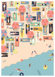 Jakarta, Indonesia-based graphic designer, Putri Febriana brings us slick, patterned scenes using people en masse to build the decorative elements inher designs. © Putri Febriana, 2015
