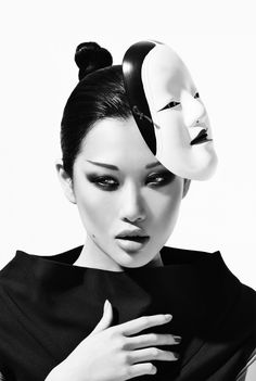 Angie Ng for Glam Magazine Red Eyebrows, Asian Eyebrows, Straight Eyebrows,  Geisha Makeup f0a5b581493