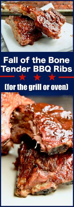Grilled low and slow yields fall off the bone tender BBQ ribs, brush with a tangy bbq sauce for lip smacking deliciousness. Perfect for summertime entertaining! via @westviamidwest