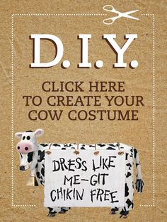 Cow Appreciation Day - Wear Your Cow Costume   Chick-fil-A. printable cow face, etc.