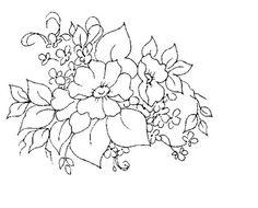 Pintura em Tecido Amor Perfeito: Riscos de Flores