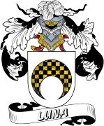 De Luna Spanish Coat Of Arms www.4crests.com #coatofarms #familycrest #familycrests #coatsofarms #heraldry #family #genealogy #familyreunion #names #history #medieval #codeofarms #familyshield #shield #crest #clan #badge #tattoo #crests #reunion #surname #genealogy #spain #spanish #shield #code #coat #of #arms